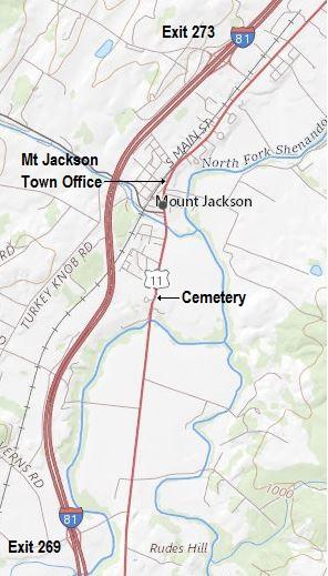 Mt Jackson Map